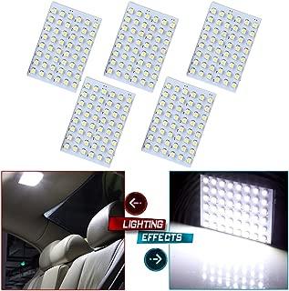 cciyu 5x Festoon T10 BA9S White LED 48SMD Panel Interior Dome Map Light Bulb Lamp New