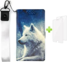 PU Leather Flip Case for Asus Zenfone Max Plus M1 ZB570TL X018D / Asus ZenFone Pegasus 4S X018DC Stand Case Cover + 2 Pack Tempered Glass Screen Protector P-Lang