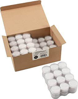 Stonebriar 6-7 Hour Long Burning Unscented Clear Cup Tea Light Candles, 96 Pack, White, 96 Count