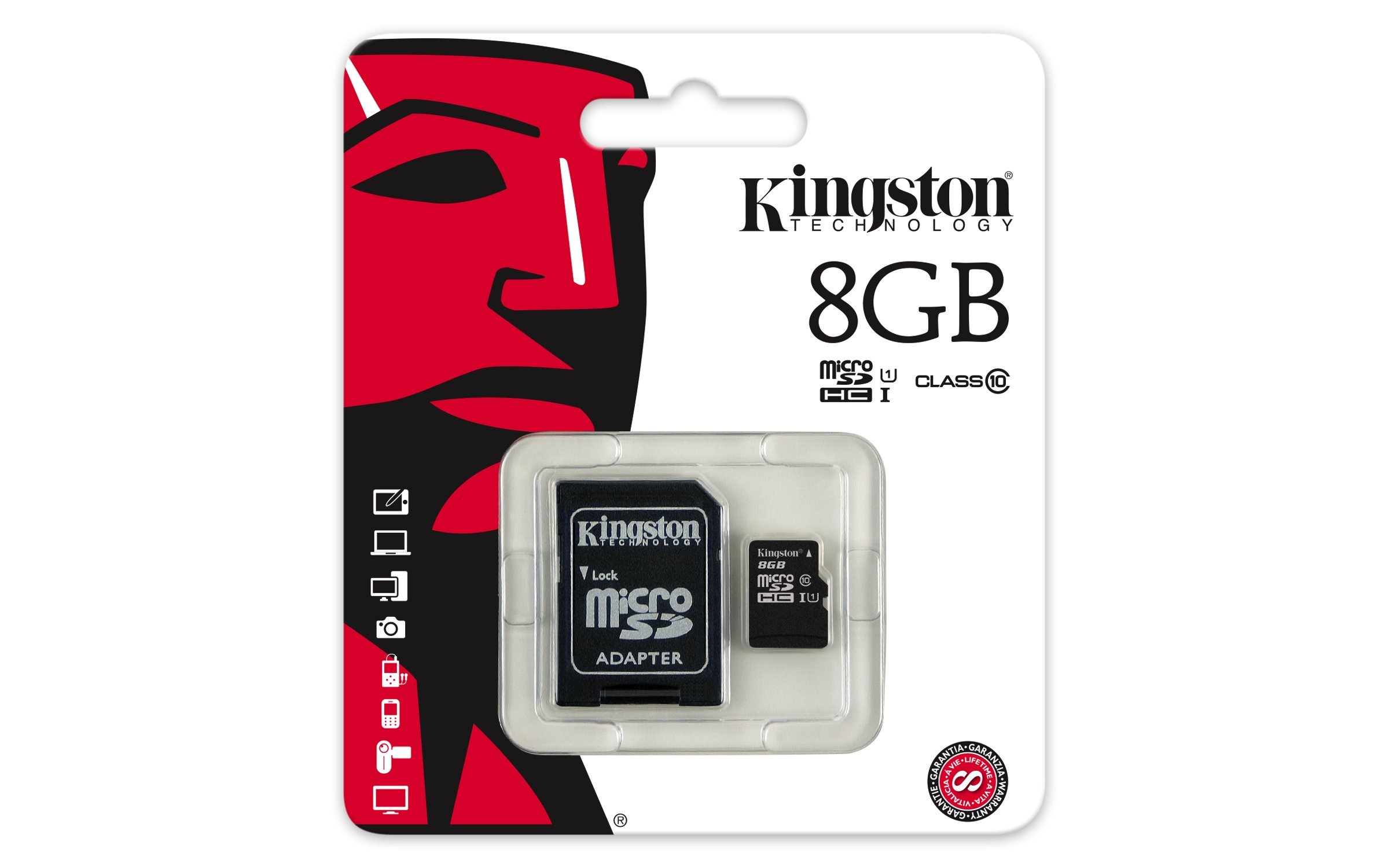 Kingston Industrial Grade 8GB ARCHOS Gamepad MicroSDHC Card Verified by SanFlash. 90MBs Works for Kingston