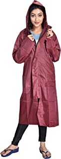 THE DRY CAPE ; LET IT RAIN Maroon xl-46 rain Coat for Women | Men | Ladies | Girl
