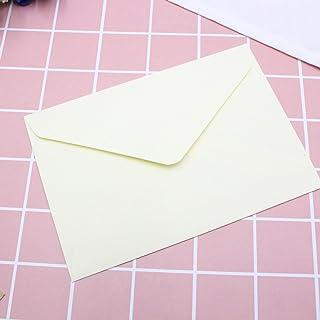 CHUJIAN 1PC Classical White Black Kraft Blank Mini Paper Window Envelopes Wedding Invitation Envelope Gift Envelope (Color...