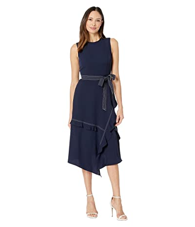 Calvin Klein Contrast Stitch Dress (Twilight) Women