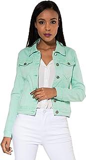 Crazy Age Chaqueta vaquera para mujer, chaqueta de entretiempo, chaqueta de verano