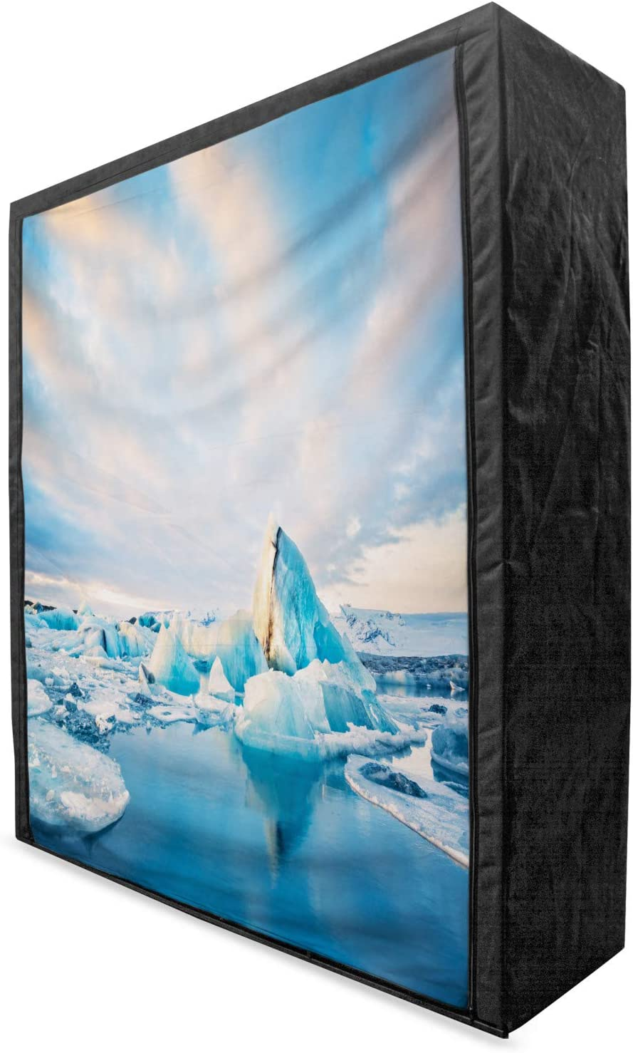 Ambesonne Iceland Portable Fabric Icebergs Rare on Wardrobe At the price of surprise Floating