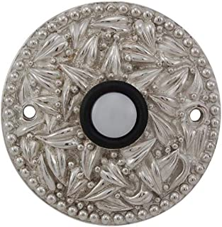 Vicenza Designs D4013 San Michele Round Doorbell, Polished Silver