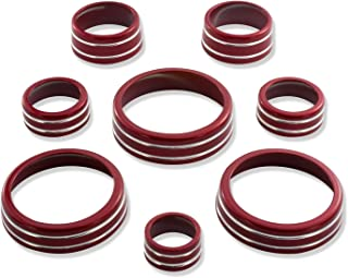 American Brother Designs ABD-1514GBE Crystal Red 8 Piece Interior Knob Kit for Corvette C7 Stingray/Z06 (Paint Code GBE)