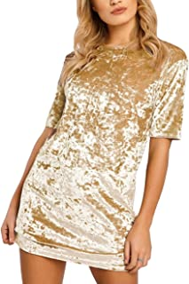 gold sequin t shirt dress