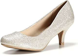 STELLE Women's Classic Low Heel Day Pump Shoes for...