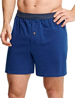 Hanes Men's Long Leg Boxer Pack of 5 5-pack Tagless Woven Exposed Waistband Boxers