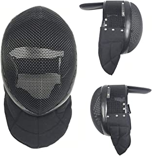 XIURAB Fencing Mask (with Removable Lining), Fencing Protective Helmet, CE Certification 1600N Fencing Training Equipment