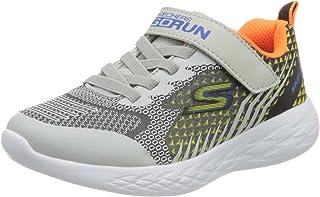 Skechers Boys' GO Run 600 BAXTUX Trainers, Black (Black & Charcoal Mesh/Light Gray Synthetic/Bkgy), 2 (35 EU)