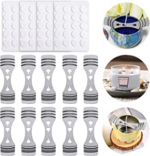 DELFINO Metal Candle Wick Holder 10Pcs, Heat Resistant Candle Making Stickers 80Pcs, DIY Making Candle, Candle Making Kit,...