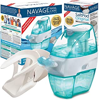 Sponsored Ad - Navage Nasal Hygiene Essentials Bundle: Navage Nose Cleaner, 40 SaltPod Capsules, and Countertop Caddy. 126...