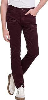 Men's Pants, Slim Fit Solid Comfy Corduroy Pants, 28-38