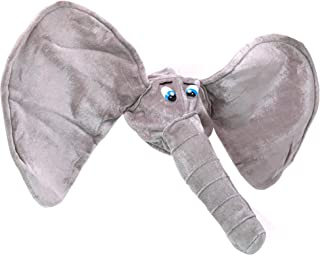 Skeleteen Stuffed Elephant Costume Hat - Plush Animal Funny Costume Accessories Hat - 1 Piece Grey