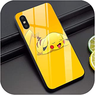 Pikachu Tempered Glass Phone Case for iPhone 5 Xr X 7 8 Plus 6 6S 5S Se Xs Max 11 Pro,for iPhone Xs Max,K2011612