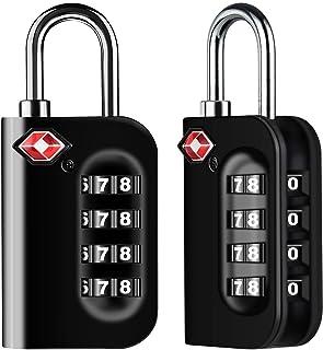 comprar comparacion Candados de Equipaje, VersióN Nueva Diyife 2 X TSA Candado de Seguridad de 4 DíGitos, Candados de CombinacióN para Malet...