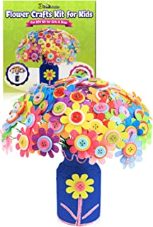 3 Bees & Me Flower Crafts Kit for Kids Age 4 to 12 - Fun DIY Craft Kit for Girls & Boys
