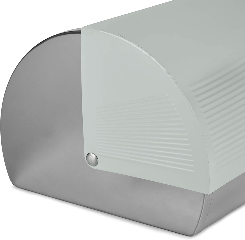 Morphy Richards 976002 Dune Bread Bin Stainless Steel Roll Top Design Ivory Cream 1