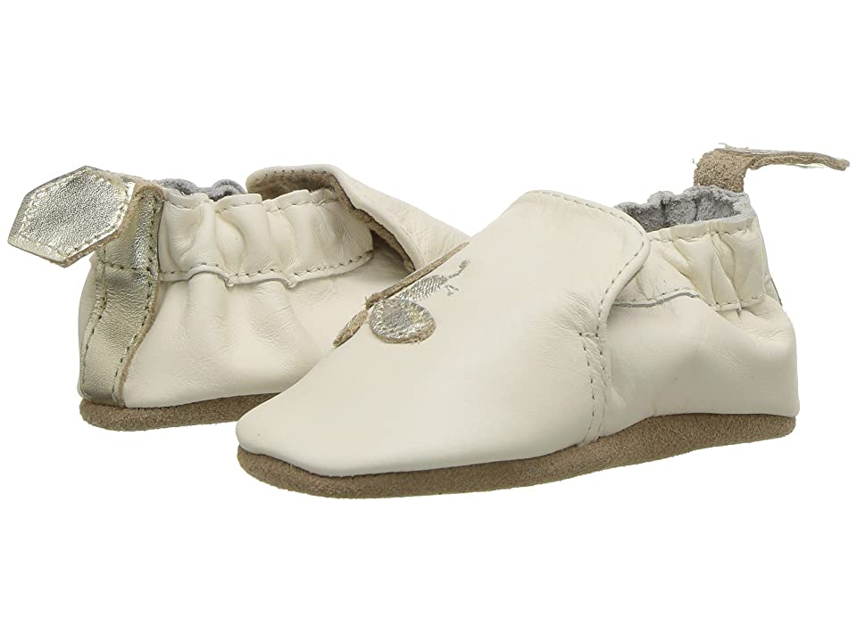 Robeez Bee Soft Sole (Infant/Toddler) (Cream) Girl