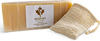 Merkaba Handmade Unscented Cold Process Natural Soap Bars for Hands, Face, and Body – Luxury Gift Soap Made...