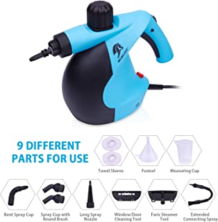 MLMLANT Handheld Pressurized Steam Cleaner with 12-Piece Accessory Set - Multi-Purpose and Multi-Surface All Natural, Chemical-Free Steam Cleaning for Home, Auto, Patio, More