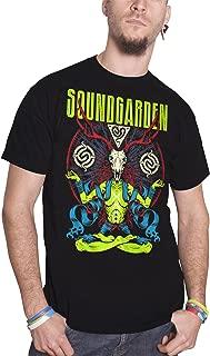 Soundgarden T Shirt Antlers Meditation Alien Band Logo Official Mens Black