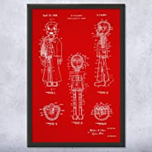 Patent Earth Framed Ventriloquist Dummy Print, Ventriloquism Gifts, Prop Comedian, Stand Up Theater, Vaudeville Act, Sailor Puppet Red Fabric (12