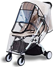 Bemece Stroller Rain Cover Universal, Baby Travel Weather Shield, Windproof Waterproof, Protect from Dust Snow (Black-M)
