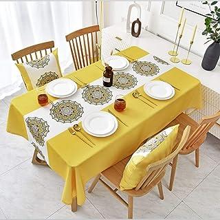Nappe Rectangulaire avec Un Style Folklorique Personnalisé, Couverture Table Propre Et Imperméable À l'eau Et À l'huile po...