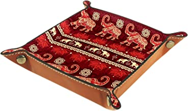 Yumansis Składana taca do toczenia kości ze skóry PU do zegarka biżuteria pudełko do przechowywania uchwyt czerwony boho a...