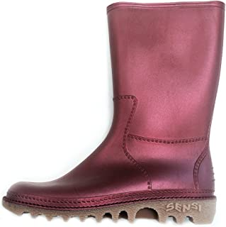 Colorful, Mid Calf Waterproof Rain Boot with 2