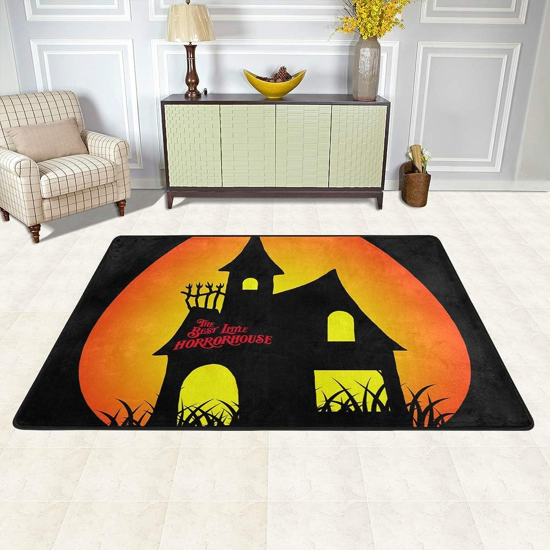 MALPLENA Little Horror House Rugs for Living Room Doormat Carpet Floor Mats shoes Scraper for Living Room Dining Room Bedroom Kitchen Non Slip