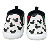 Disney Mickey Mouse Red and Black Infant Shoes (3-6 Months, Black and White)