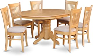 East West Furniture 7-Piece Dining Table Set