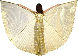 Dance Fairy Belly Dance LED Angel Isis Wings with Flexible Sticks