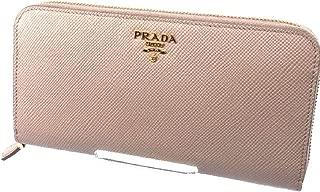 Portafoglio Lampo Cipria Beige Saffiano Cuir Leather Full Zip Wallet 1ML506