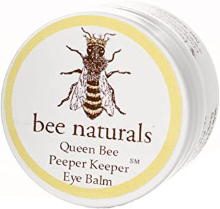 Queen Bee Naturals Best Eye Balm Peeper Keeper - Eyelid Cream Helps Reduce Crows Feet, Wrinkles & Fine Lines - Pure Anti Aging Restorative Moisturizes Your Skin - Vitamin E + 10 Organic Nutrient Oils