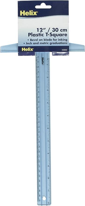 T-Plastique R/ègle Forme,2 Pi/èces T-Square Junior de 12 Pouces 30 Cm R/ègle D/échelle Lat/érale Double R/ègle Forme T En Transparent T-Square Outil de mesure Pour Le Dessin Travail Mise En Page G/én/éral