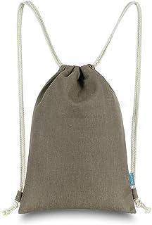 Miomao Kordelzug-Rucksack / Turnbeutel aus solidem Segeltuch