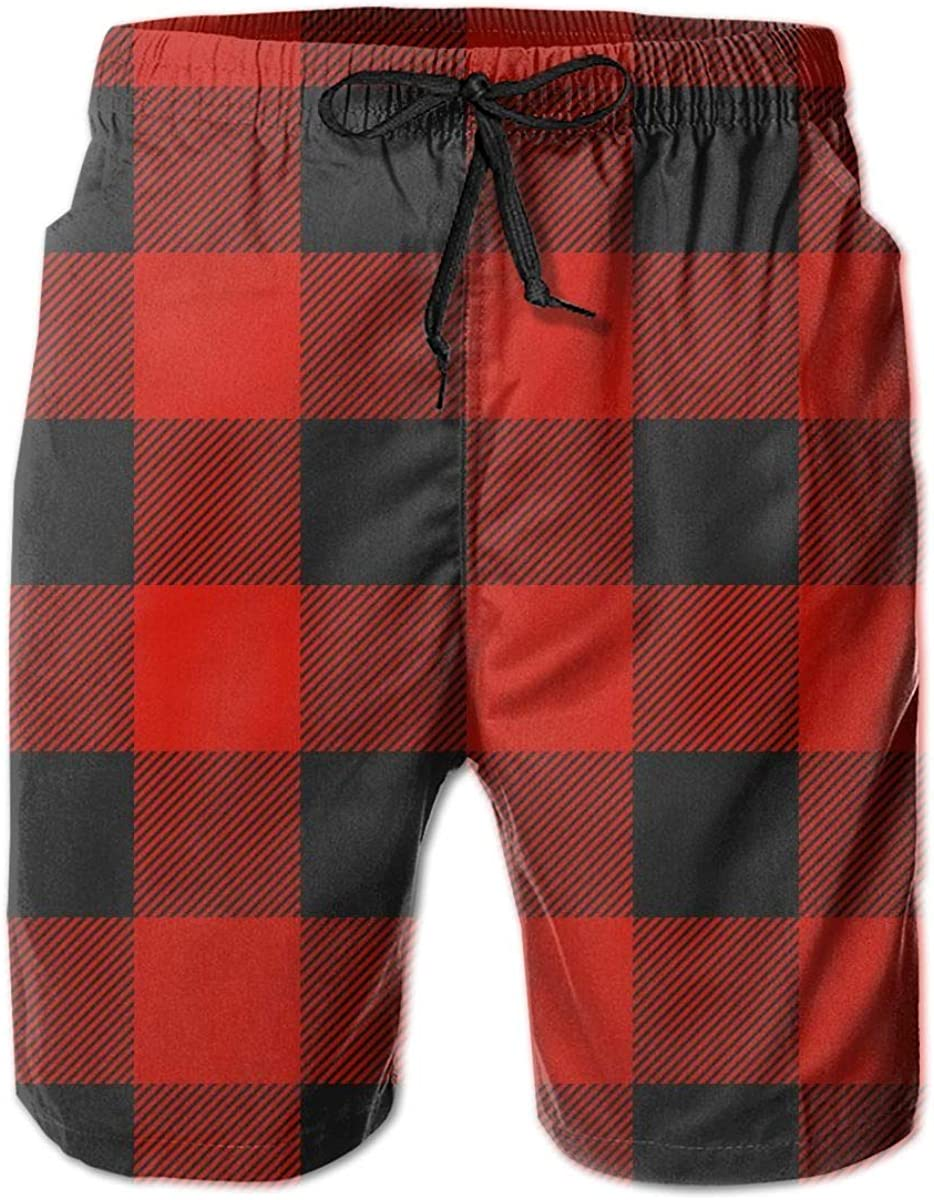Men's Swim Trunks Quick Dry Bathing Suits Vacation Board Shorts Swim with Mesh Lining