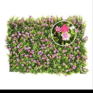 comprar comparacion seto artificial con flores faux greenery privacidad pantallas verde seto telón de fondo plástico jardín falsa valla mat pa...