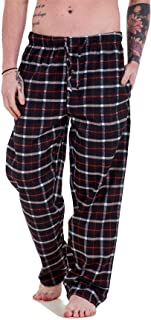 Apparel Mens Flannel Pyjama Bottoms Brushed Cotton Check Lounge Pants Nightwear M-5XL