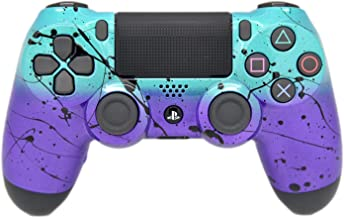 Hand Airbrushed Fade Playstation 4 Custom Controller (Teal & Purple)