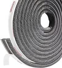 fowong Adhesive Brush Weather Stripping, 11/32-inch x 11/32-inch x 16-Feet, High Density Felt Draught Excluder for Sliding Sash Door Window Wardrobe Seal (Grey)