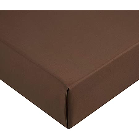 Amazon Basics AB Microfiber, Microfibre Polyester, Marron, 160 x 200 x 30 cm