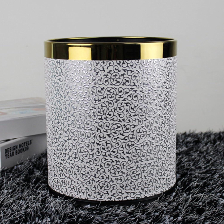 PEIISFUGB Leder gedeckte mülleimer größe papierkorb basket doppeldecker-mülleimer doppeldecker-mülleimer doppeldecker-mülleimer haushalt büro trash dosen-D B075V22FTL   Vielfältiges neues Design  b5dcb6