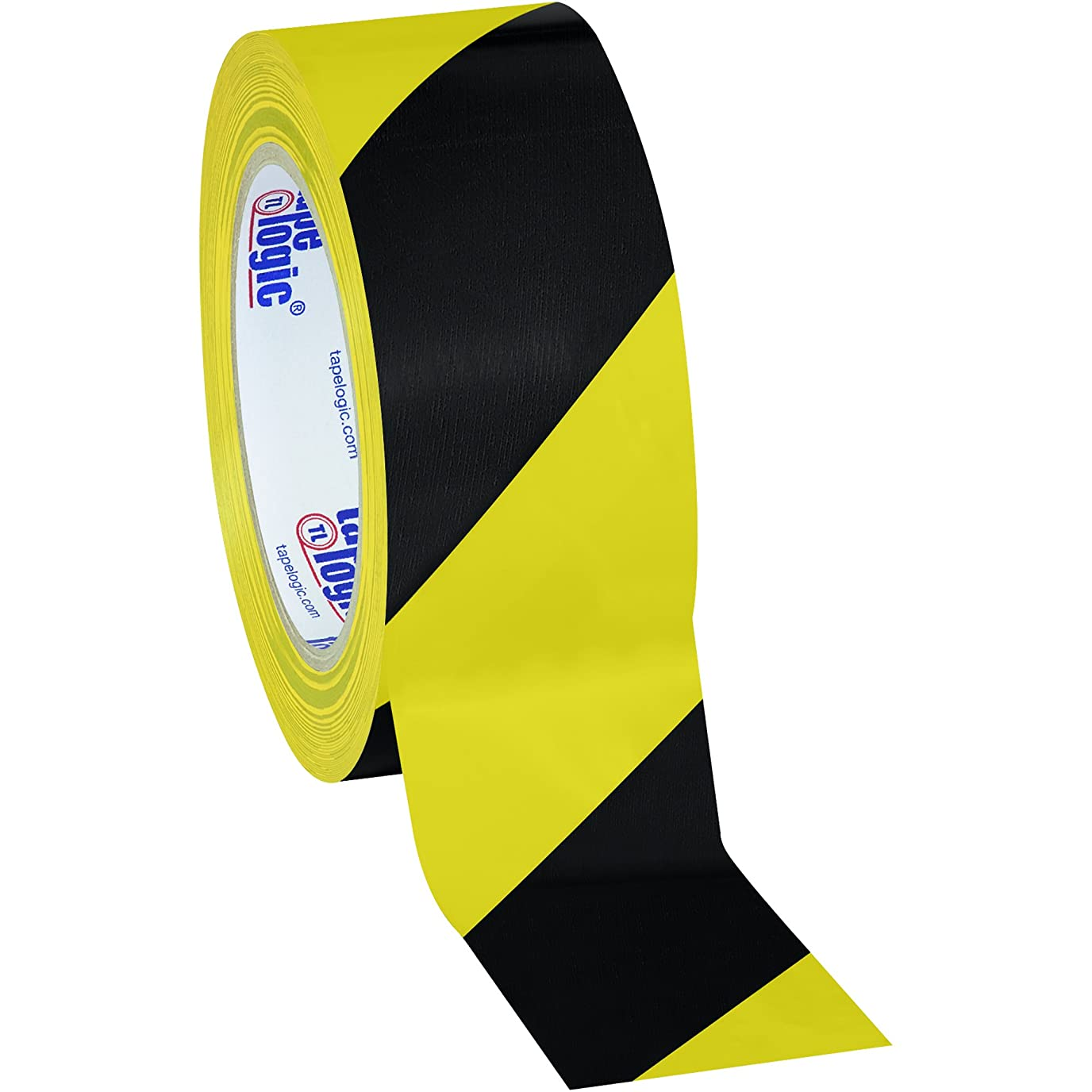 許容奪う正規化Aviditi T9236BY Heavy Duty Striped Vinyl Safety Tape, 36 yds Length x 2 Width, 7 mil Thick, Black/Yellow (Case of 24) by Aviditi