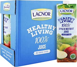 Lacnor Healthy Living Apple & Beetroot Juice - 1 Litre (Pack of 6)